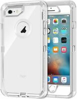 For IPhone 8 Plus /7 Plus Heavy Duty Tough Holster Clear Case fit Otterbox Clip
