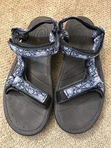 Teva Tirra Open Toe US8, Outdoor Sandals - Blue Sea