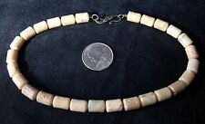 """VINTAGE CHILD'S MARBLE/GEMSTONE 13.5"""" (INCLUDING CLASP) W/AN OLD STERLING CLASP"""