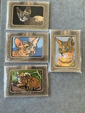 Goodwin Champions Cat Card Lot (peterbald, Sphynx, Bengal, & Chausie)