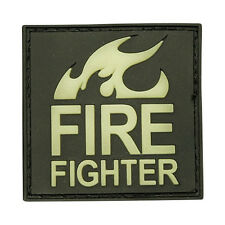 PATCH JTG 3D GOMME FIRE FIGHTER LUMINESCENT AIRSOFT POMPIERS MILITAIRE INSIGNE