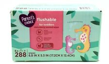 Flushable Baby Wipes Melonberry Scent 6 Pack Of 48 - 288 Total