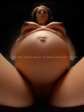 1572-AM Fine Art Nude Girl Pregnant Woman Big by Maher