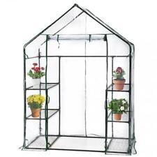 Portable Mini Greenhouse Outdoor Plant Shelves Canopy Winter Walk In Green  House