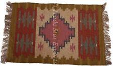 Hand Woven Kelim Rug Ethnic Runner 2X3 Feet Floor Carpet Jute Oriental Area Rug