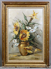 Sunflower Still-Life Oil Painting signed Guido GRIMANI (ITALIAN)