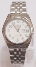 SNK377 Stainless Steel Band Automatic Men's White Watch SNK377K1 SEIKO 5 New