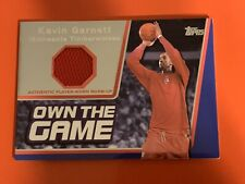 Kevin Garnett 2006-07 Upper Deck Basketball Own The Game Relic Game Used
