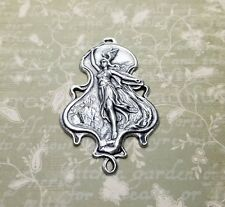 Large Oxidized Silver Valkyrie Warrior Goddess Charm (1) - SOSG6904R