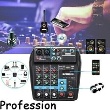 5W 4 Channel USB Professional Audio Mixer Console Bluetooth 48V Phantom Power
