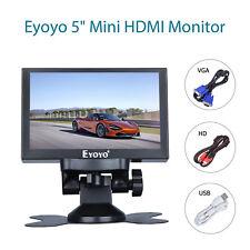 "5"" HDMI Mini Monitor Car Rear View BNC VGA Metal Housing For DVD PC DVR Camera"