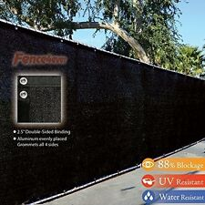 Privacy Windscreen Shade Fabric Tarp w/ Anti-Rust Grommets 4'x50' by Fence4Ever
