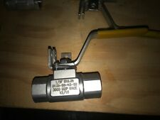 """Wkm Dynaseal 1/2"""" Stainless Steel Ball Valve 3000 Wog"""