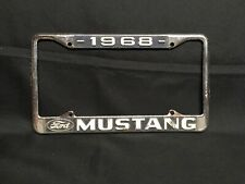 Vintage 1968 Ford Mustang Metal License Plate Frame