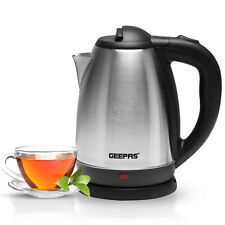 Geepas Electric Kettle Cordless Stainless Steel Jug 1.8L Boil Dry Protection