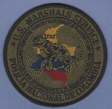 UNITED STATES MARSHAL SERVICE POLICIA NATIONAL DE COLOMBIA PATCH