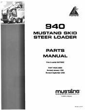 Owatonnamustang 940 Skid Steer Loader Parts Manual 000 34884