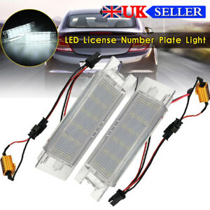 LED License Number Plate Light for Vauxhall Opel Astra H Corsa C/D Zafira B Adam