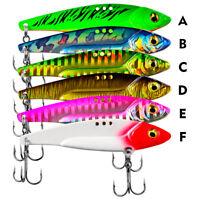 6pcs Metal VIB Fishing Lures Offshore Saltwater Crankbaits Jigs Hooks Multicolor