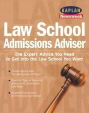 Law School Admissions Advisor (Kaplan/Newsweek) Expert Advice..Get In Law School