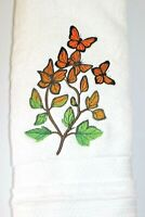 Butterfly Glow Spring Bathroom Hand Towel Set EMBROIDERED