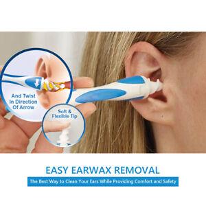 SMART EAR WAX REMOVER CLEANER TOOL SOFT SPIRAL EAR SWAB SET SAFE EAR PICK REUSE