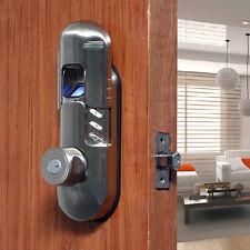 Weatherproof Electronic Keypad Fingerprint Deadbolt Door Lock Knob 98A Nickel