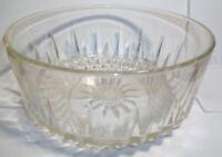"Vintage ARCOROC USA Cut Crystal Dessert Dishes Salad Bowl Star Sun Burst 7.5"""