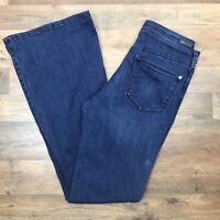 Anthropologie Pilcro Letterpress Womens Size 28 x 32 Jeans Blue High Rise Flare