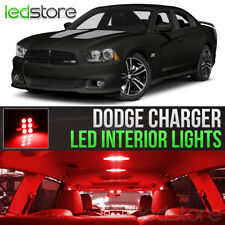 2011-2014 Dodge Charger Red Interior LED Lights Kit Package