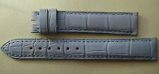 GENUINE CHOPARD WATCH STRAP BAND 15 mm LIGHT BLUE ALLIGATOR LEATHER 15/14 mm NEW
