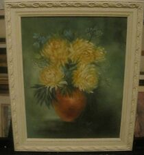 C. Vest Beautiful Framed Floral Oil on Canvas Painting