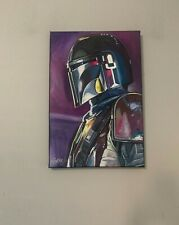 """The Mandalorian Star Wars 12""""x18"""" Pop Art Painting Chris Cargill"""