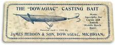 Dowagiac Casting Bait Box Retro Lure Fish Bait Tackle Fishing Marina Metal Sign