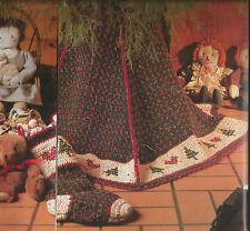 Crochet Pattern ~ AMERICANA TREE SKIRT & STOCKING Christmas ~ Instructions