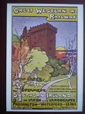 POSTCARD GWR - FAST TRAINS & STEAMERS TO SOUTHERN IRELAND