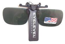 Polarizado Clip Flip Gafas De Sol Gris Ideal Pesca nh07
