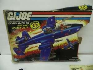 G.I. JOE COBRA RATTLER COMPLETE WITH BOX 1984 HASBRO GIJOE Wild Weasel ARAH