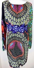 Desigual Women's 40 10 Dress Vestit-T Shift Dress Floral Embroidered EUC