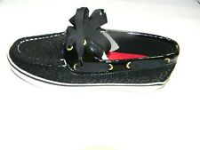 Women,s Sperry Boat Shoes #9288176 Bahama wool Sequins Black Size 5.5 M