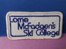 WHISTLER MOUNTAIN LORNE McFADGEN'S SKI SCHOOL PATCH VINTAGE SKIING HALL OF FAME