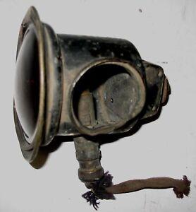 1912-15 ERA BRASS ELECTRIC TAIL LAMP BUICK CHEVROLET NASH REO STUDEBAKER OLDS