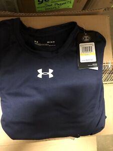 New Under Armour UA Locker 2.0 Blue Loose Tee Shirt Mens Medium