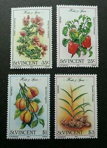 [SJ] St. Vincent Herbs And Spices 1985 Flower Plant Flora (stamp) MNH