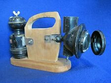 Vintage Brilliant Search Light Carbide Miners Lamp and Reservoir