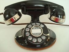 Antique original Western Electric 202 Telephone works F1 handset  Nickel Bands