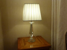 Pack of Two Crystal Table Lamps With Cream Pleated Shade