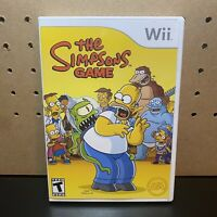 The Simpsons Game (Nintendo Wii, 2007) Complete W/ Manual - Tested & Works!