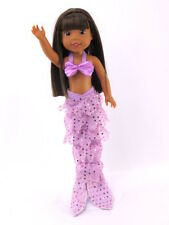 "Mermaid Outfit Costume Purple Fits 14.5"" Wellie Wisher American Girl Doll"