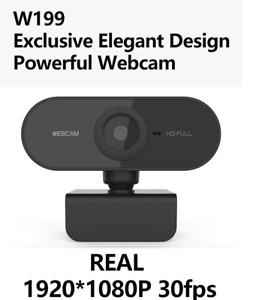 Full HD 1080P Webcam USB With Mic Mini Computer Camera Flexible Rotatable W199